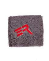 "ERA Wrist Sweatband 3""-Gray/Red Logo (Pair)"
