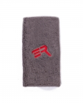 "ERA Arm Sweatband 6""-Gray/Red Logo (Pair)"
