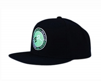 Extreme Rush Athlete Snapback Cap-Black/Lime