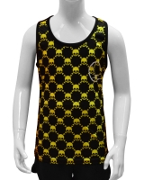 Boy's Armakiddo Skull Tank-Black/Yellow