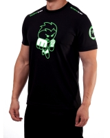 "Men's Extreme Rush ""Born To Fight"" Tee-Black/Lime"