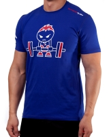 "Men's Extreme Rush ""Born To Lift"" Tee-Blue/Red"