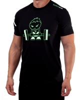 "Men's Extreme Rush ""Born To Lift"" Tee-Black/Lime"