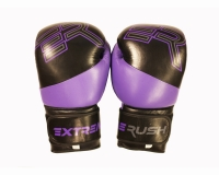 Extreme Rush ER Logo Elite Sparring Gloves-Black/Purple-16oz