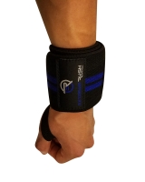 Extreme Rush Wrist Wraps-Black/Blue