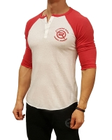 Men's Extreme Rush Barbell Academy 3/4 Sleeve-Red/White