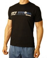 "Men's ERA ""Get Strong-ER"" Tee-Black"