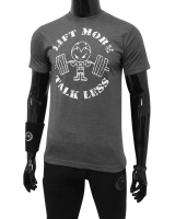 "Men's ERA ""Lift More Talk Less"" Tee-Gray"