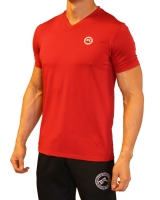 Men's ERA Signature Logo Performance V-Neck-Red