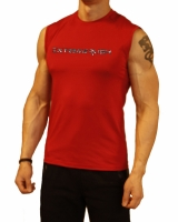 Men's Extreme Rush Training Sleeveless-Red/Grey Camo
