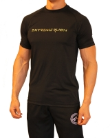 Men's Extreme Rush Training Tee-Black/Green Camo