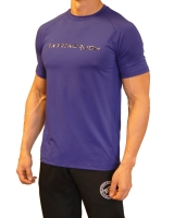 Men's Extreme Rush Training Tee-Blue/Grey Camo