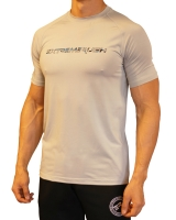 Men's Extreme Rush Training Tee-Grey/Blue Camo