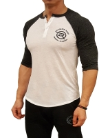Men's Extreme Rush Barbell Academy 3/4 Sleeve-Charcoal/White