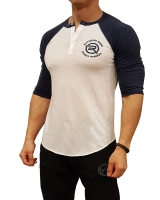 Men's Extreme Rush Barbell Academy 3/4 Sleeve-Navy/White