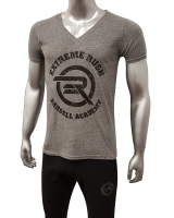 Men's ERA Barbell Academy Deep Cut V-Neck-Gray