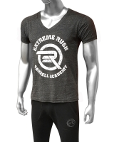 Men's ERA Barbell Academy Deep Cut V-Neck-Onyx
