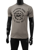 Men's Extreme Rush USA Logo Tee-Stone Gray