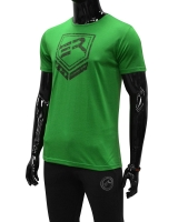 Men's ERA Shield Logo Tee-Green/Black