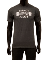 "Men's ERA ""Not A Meathead"" Tee-Charcoal"