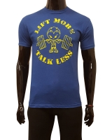 "Men's ERA ""Lift More Talk Less"" Tee-Blue"
