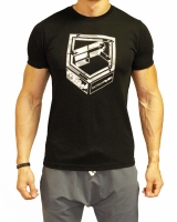 Men's ERA Shield Logo Tee-Black/Grey Camo