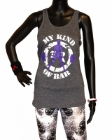 "Women's ""My Kind Of Bar"" Racerback Tank-Heather Navy"
