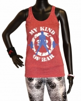 "Women's ""My Kind Of Bar"" Racerback Tank-Red"