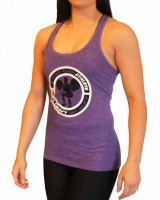 "Women's ""Lift Heavy Get Sexy"" Racerback Tank-Purple"