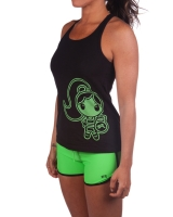 "Women's Extreme Rush ""Fit Chick"" Tank-Black/Lime"