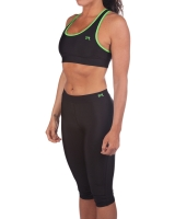 Women's Luxe Series Performance Capris-Black/Lime