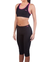 Women's Luxe Series Performance Capris-Black/Pink