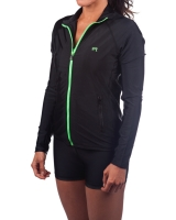 Women's Luxe Series Performance Jacket-Black/Lime