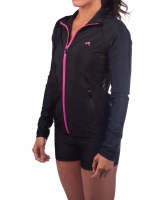 Women's Luxe Series Performance Jacket-Black/Pink