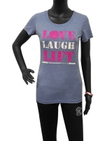 "Women's ""Love Laugh Lift"" Tee-Blue"