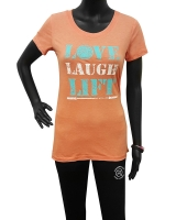"Women's ""Love Laugh Lift"" Tee-Orange"