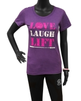 "Women's ""Love Laugh Lift"" Tee-Purple"