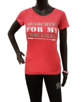 "Women's ""Searching For My Swolemate"" Tee-Red"