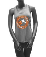 Women's Extreme Rush Athlete Tank-Gray/Orange/White