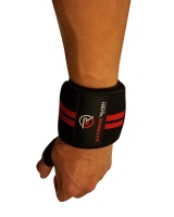 Extreme Rush Wrist Wraps-Black/Red