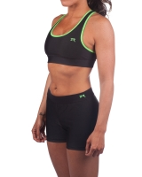 Women's Luxe Series Performance Compression Short-Black/Lime