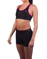 Women's Luxe Series Performance Compression Short-Black/Pink