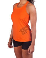 Women's ER Logo Tank-Orange
